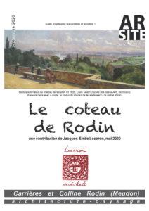 Le coteau de Rodin, J.-E. Lecaron, mai 2020