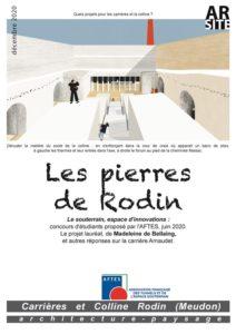 Les pierres de Rodin, concours AFTES, décembre 2020